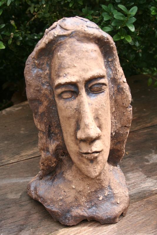 Keramik Figur, Skulptur, Garten, Büste