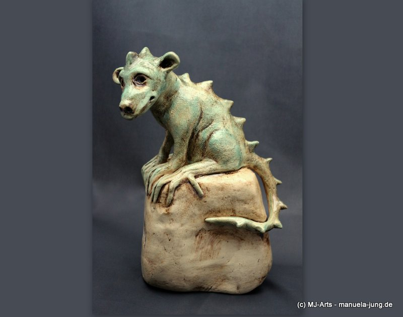 Verkauft – Keramik Drache // Gargoyle