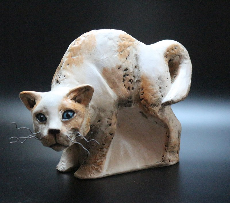 Keramik Skulptur Katze – Unikat