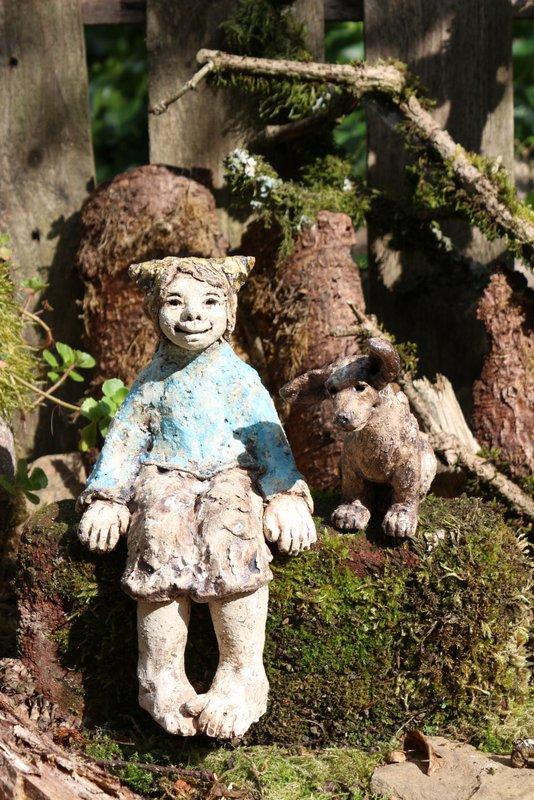 Gartenfiguren aus Keramik