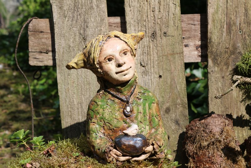 Keramik Büste Elfe, Unikat