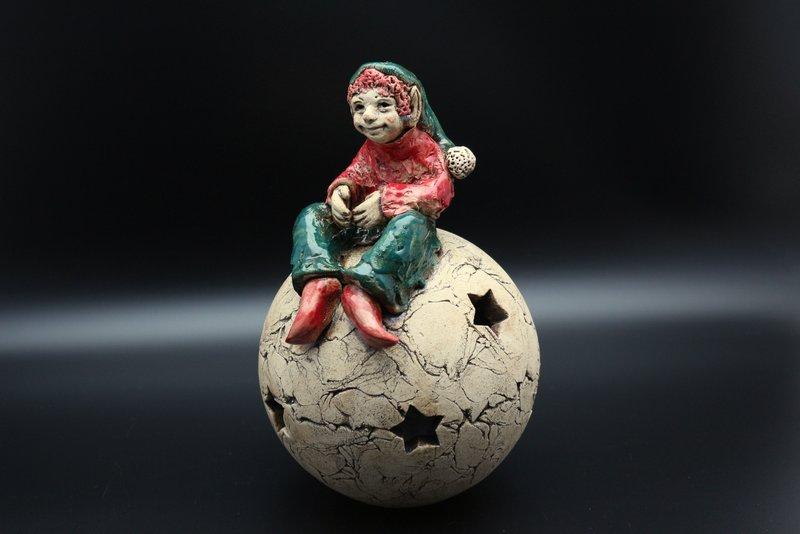Keramik Weihnachtswichtel