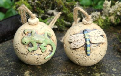 Ohrenkneiferhaus, 2er Set, Insektenhotel aus Keramik, Gartenkeramik