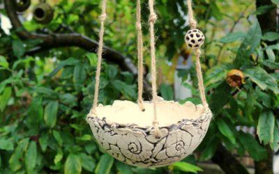 Keramik Hängeschale Ø19 cm – Übertopf / Blumenampel – Handarbeit