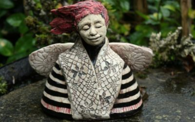 Keramik Engel modern, Weihnachtsengel, Keramikbüste – Unikat