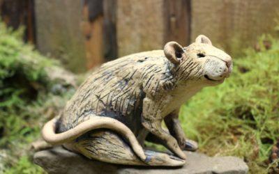 Keramik Figur Ratte – Unikat