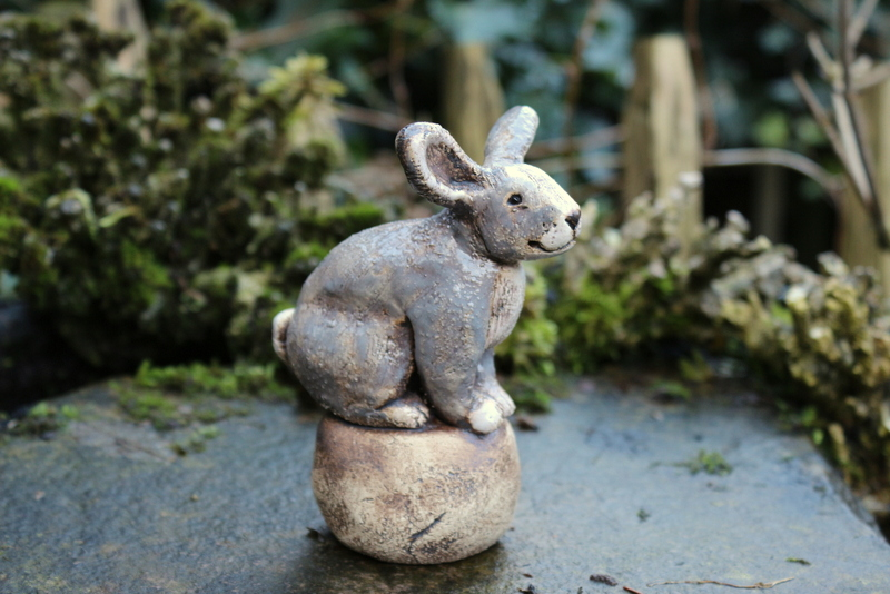 kaninchen keramik beetstecker blumentopfstecker  sign