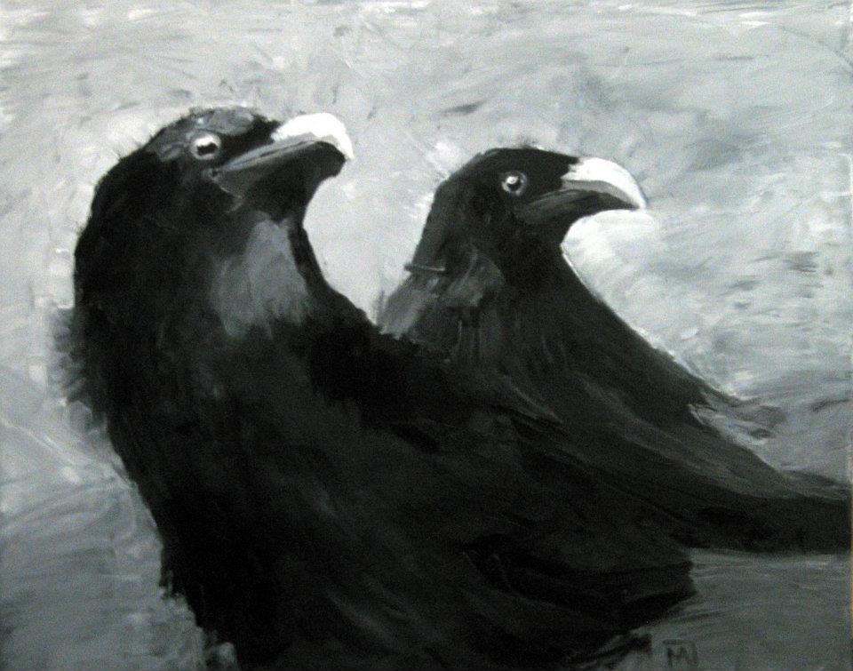 Bild: Rabenpaar 2012