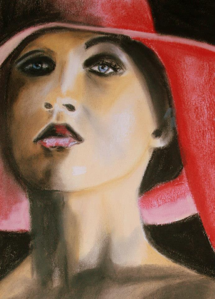 Bild: Frau mit rotem Hut (2012)
